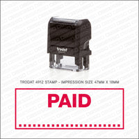 Paid - Self Inking Rubber Stamp - Trodat 4912 - Stamp - OBSESSO - www.obsesso.co.uk