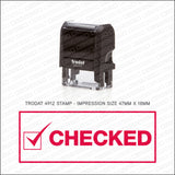 Checked Stamp - Self Inking - Stamp - OBSESSO - www.obsesso.co.uk