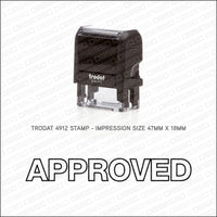 Approved Stamp - Self Inking - Stamp - OBSESSO - www.obsesso.co.uk