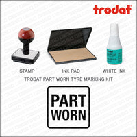 Part Worn Tyre Marking Kit - Rubber Stamp + Pad/Ink - Stamp - OBSESSO - www.obsesso.co.uk