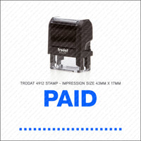 Paid With / By - Self Inking Rubber Stamp - Trodat 4912 - Stamp - OBSESSO - www.obsesso.co.uk