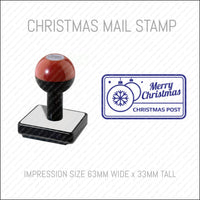 Christmas Mail Postmark Stamp