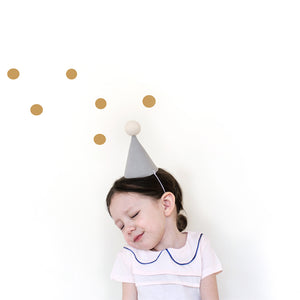 Linen Party Hat - cream