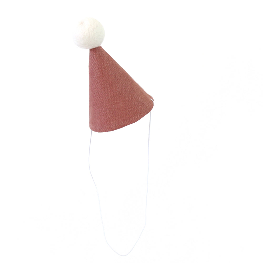Linen Party Hat - dusty pink
