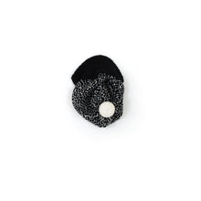 Salt and Pepper Hat, black - soft knitted Lambswool hat