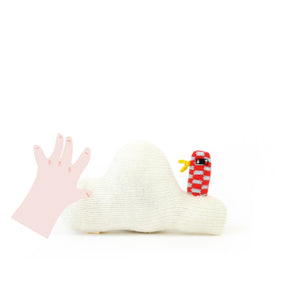 Cloud Baby Rattle - soft knitted Lambswool toy