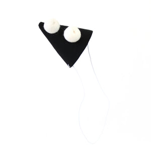 Linen Party Hat - black
