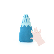Mountain Baby Rattle - soft knitted Lambswool toy