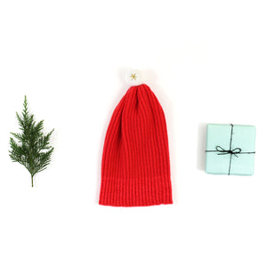 Santa Baby Hat - soft knitted Christmas hat