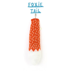 Fox Pretend Tail - soft knitted lambswool tail