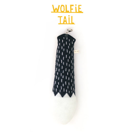 Wolf Pretend Tail - soft knitted lambswool tail