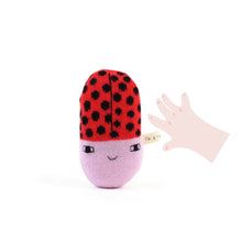 Ladybug Baby Rattle - soft knitted Lambswool toy