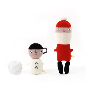 Norman Snowman - Lambswool knit toy