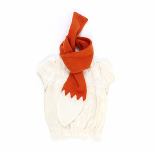 Foxie Tail Scarf - soft knitted Lambswool scarf