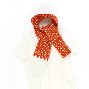 Fox Tail Scarf - soft knitted Lambswool scarf