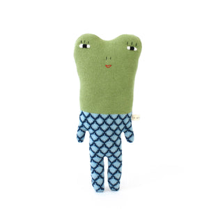 Fergie the Frog - Lambswool knit toy