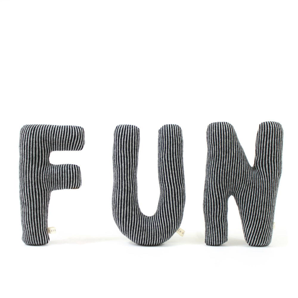FUN Letters Lambswool pillow