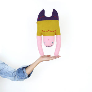 Handstand Helen - Lambswool knit toy