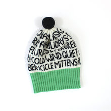 Wordy Hat - soft knitted Lambswool hat