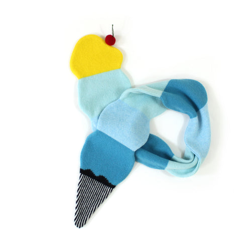 Ice Cream Scarf - soft knitted Lambswool scarf