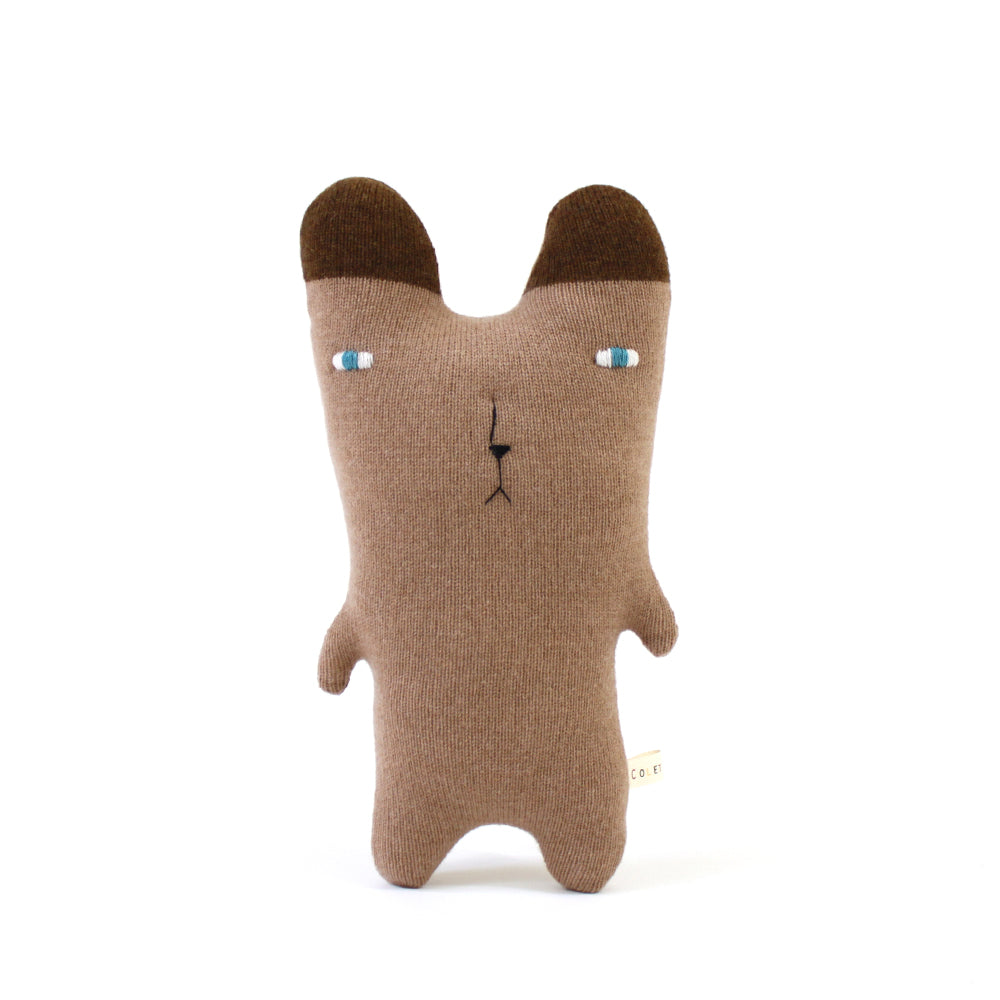 Little brown Bear - Lambswool knit toy