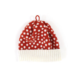 Mushroom Beanie - soft knitted Lambswool hat