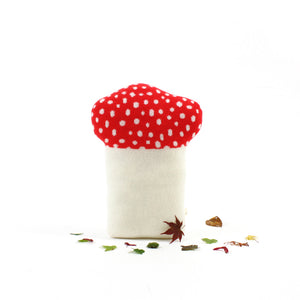 Mushroom Toadstool pillow, lambswool cushion