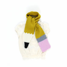 Pencil Scarf - soft knitted Lambswool scarf