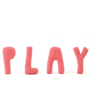 PLAY Letters Lambswool pillow