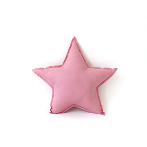 Star Pillow - soft cotton in primrose pink