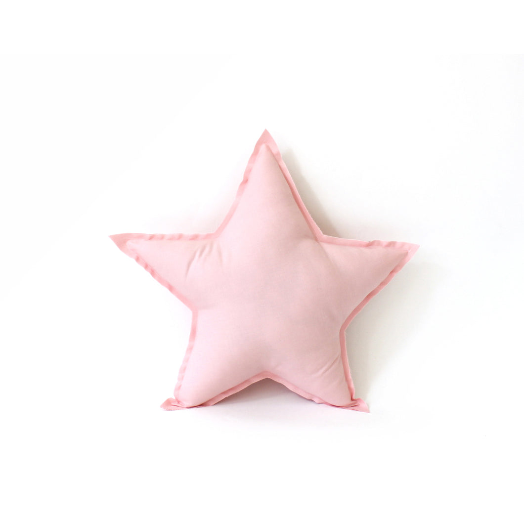 Star Pillow - soft cotton in pink