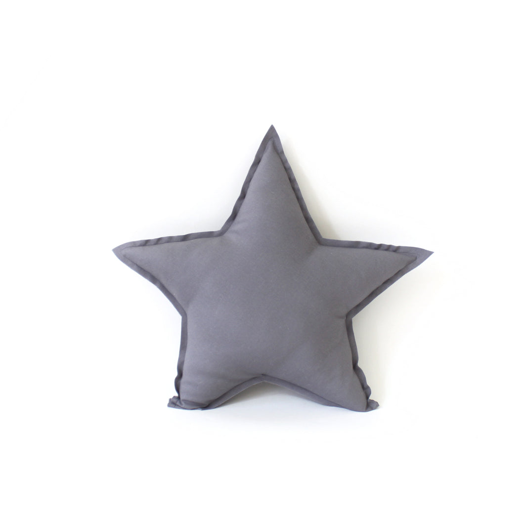 Star Pillow - soft cotton in french grey