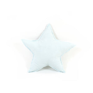 Star Pillow - soft cotton in pale blue