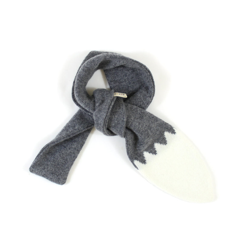 Wolfie Tail Scarf - soft knitted Lambswool scarf