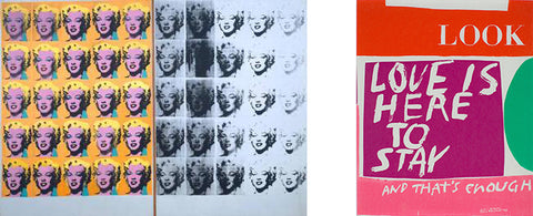 screen printing Marilyn Diptych and Sister Corita