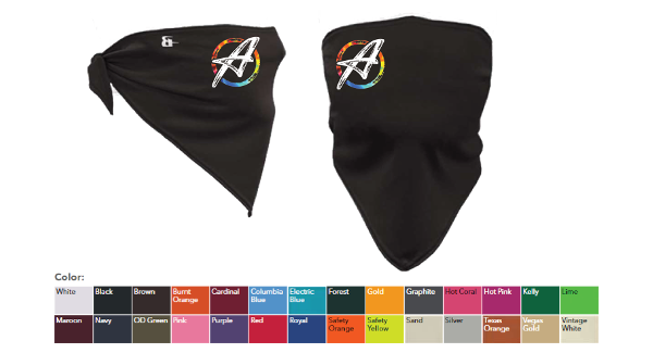 Picture of Bandana Face Masks sold by ArtRageous Apparel.