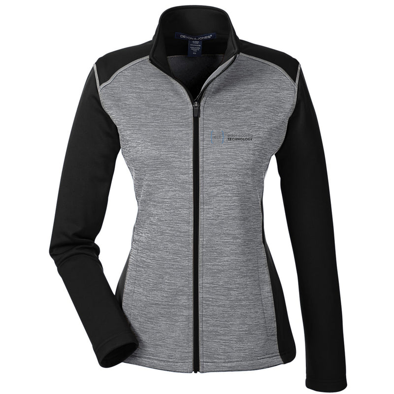 Ladies' Newbury Colorblock Mélange Fleece Full-Zip