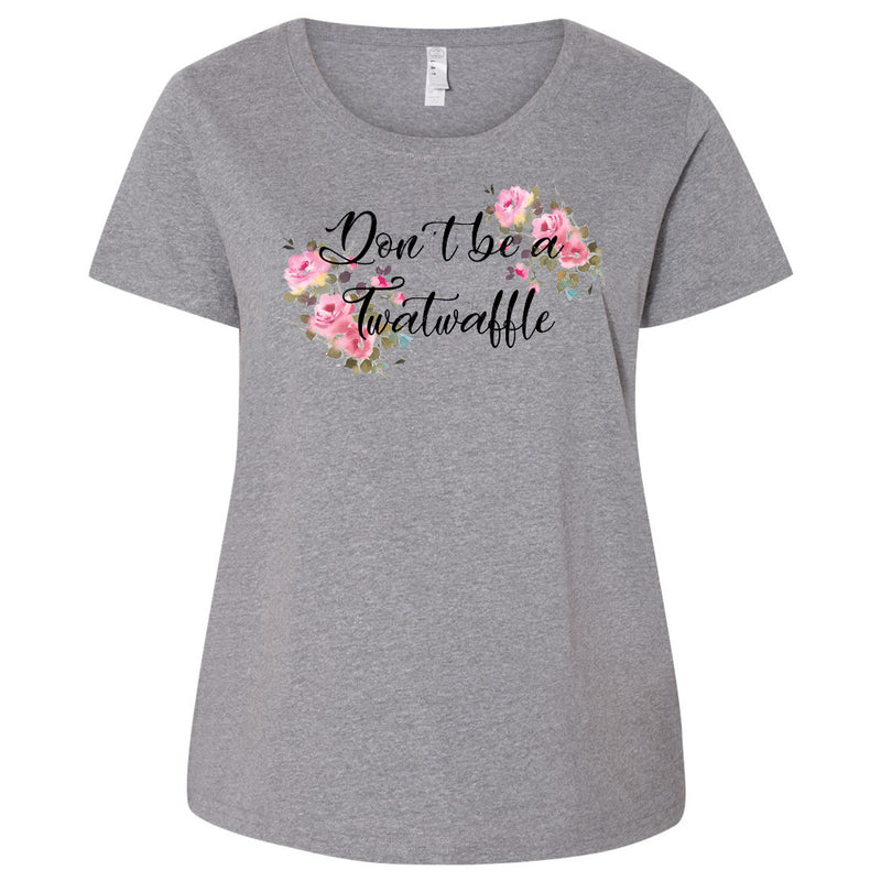 Twatwaffle Ladies Curvy Short Sleeve Tshirt