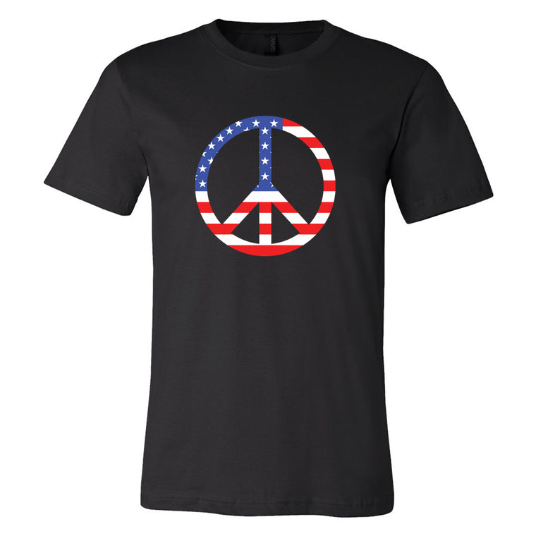 Peace Flag Tshirt- Made & Decorated in USA