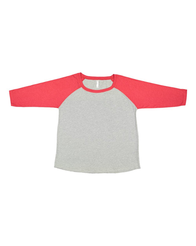 Plus Size 3/4 Sleeve Baseball Tee