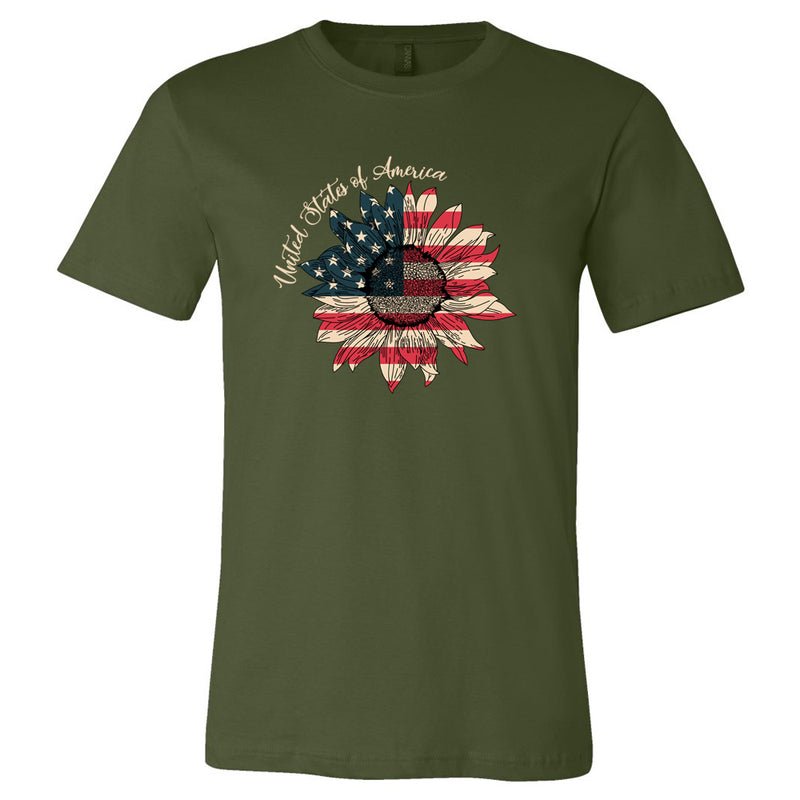 Sunflower Tshirt- Made & Decorated in USA