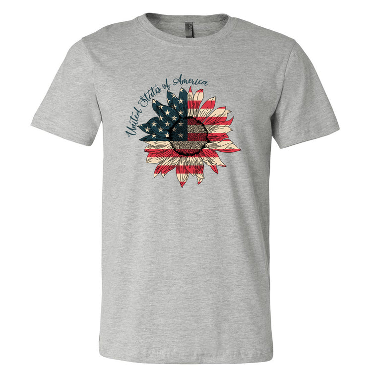 Sunflower Tshirt- Decorated in USA