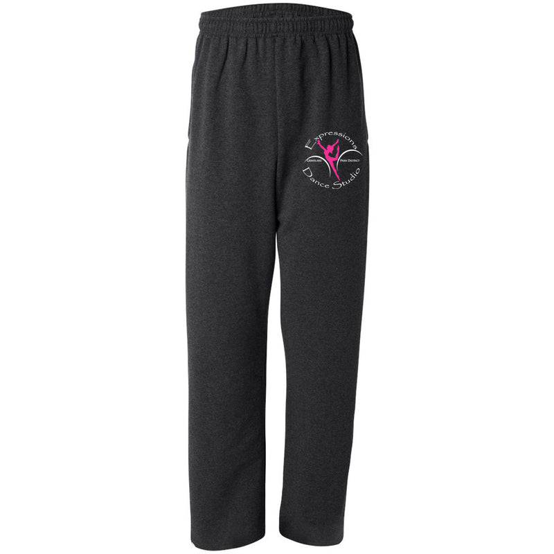 Adult Open Bottom Sweatpants with pockets