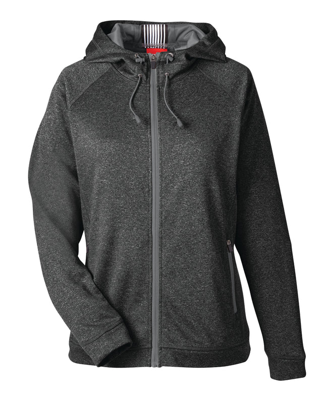 Womens Melange Performance Fleece Jacket