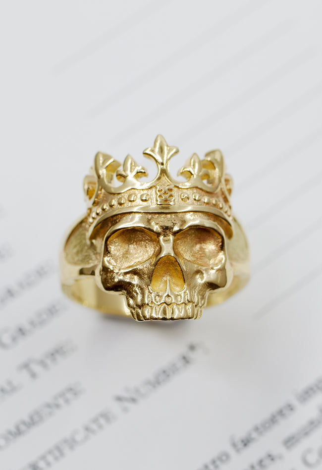 Anillo Skull Crown
