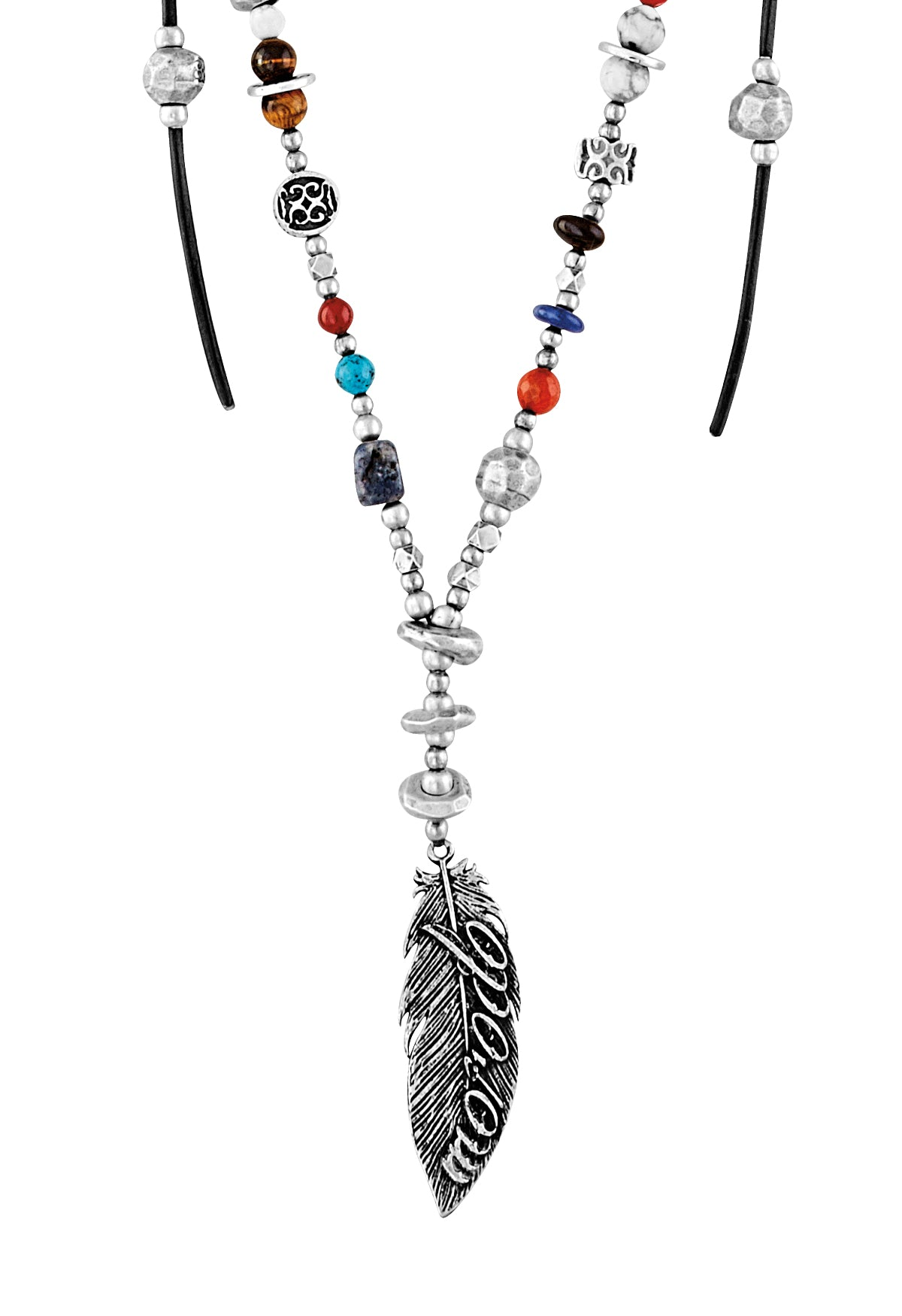 Collar Plata pluma Native