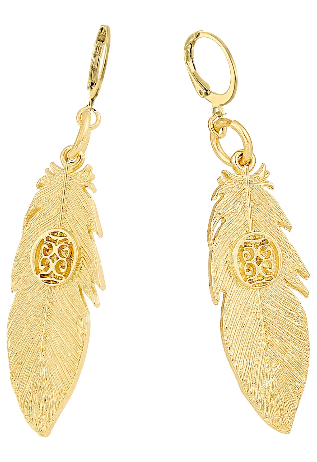 Aretes pluma dorados Native