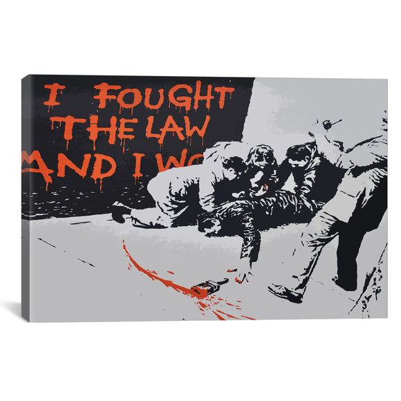 I Fought The Law And I Won by Banksy - PoppyLy