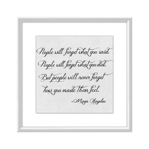 """Feel"" Quote by Maya Angelou - PoppyLy"