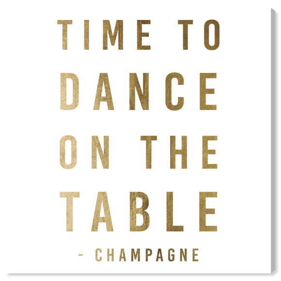 'Dancing On The Table Gold' Canvas Art - PoppyLy